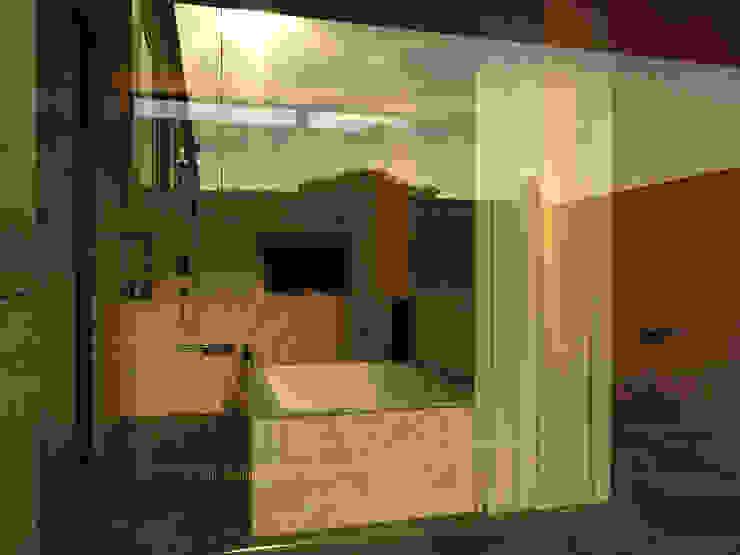 Атриумный дом Ванная комната в стиле минимализм от Shigeo Nakamura Design Office Минимализм Керамика