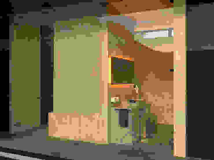 Shigeo Nakamura Design Office Minimalist style bathroom Ceramic Beige