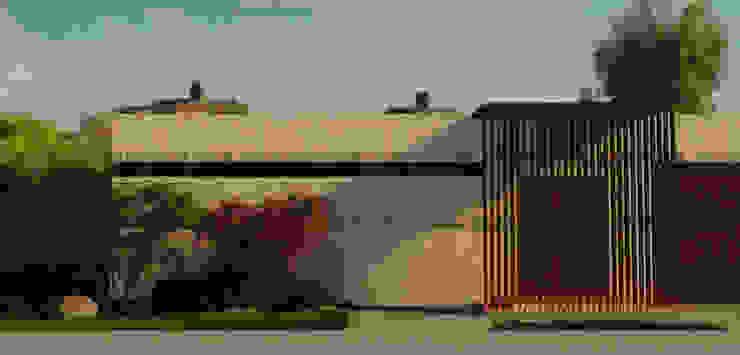 Атриумный дом от Shigeo Nakamura Design Office Минимализм Керамика