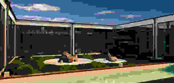 Shigeo Nakamura Design Office Country house Stone Beige