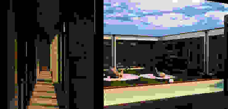 Атриумный дом от Shigeo Nakamura Design Office Минимализм Стекло