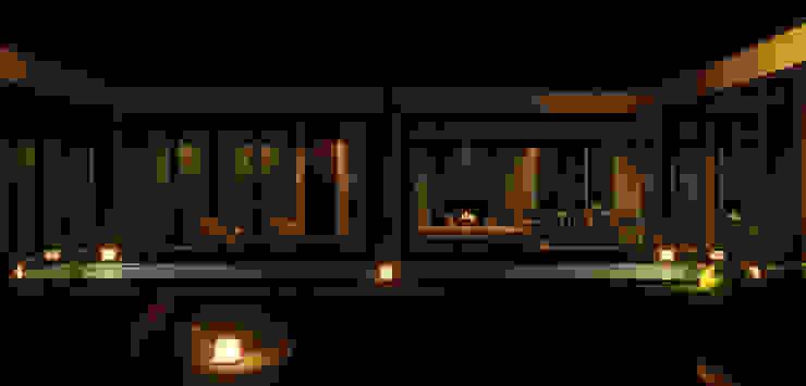 Атриумный дом от Shigeo Nakamura Design Office Минимализм Камень