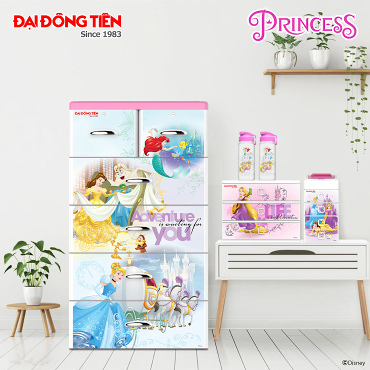 Công Ty CP Đại Đồng Tiến СпальняШафи і шафи Пластик Рожевий