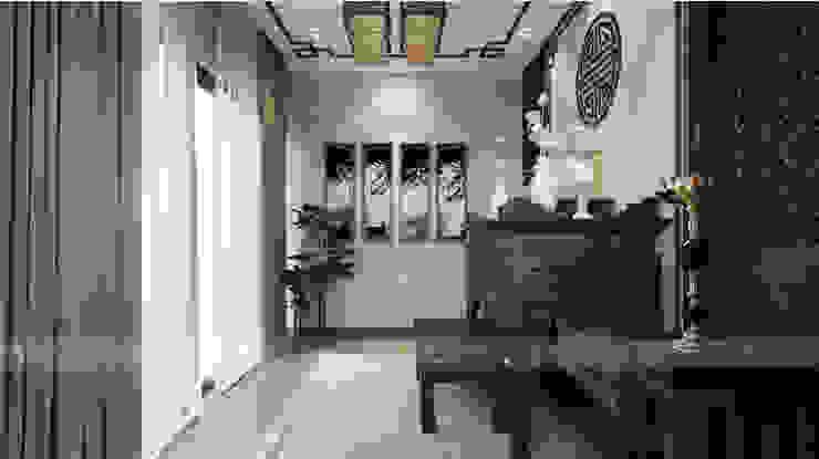 VILLA DIAMOND Phòng khách phong cách châu Á bởi RIKATA DESIGN Châu Á