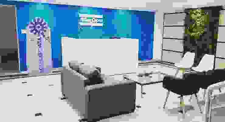 Recepção Atlas Copco Paulo Rodrigues Decoração & Design Espaços comerciais modernos Azul
