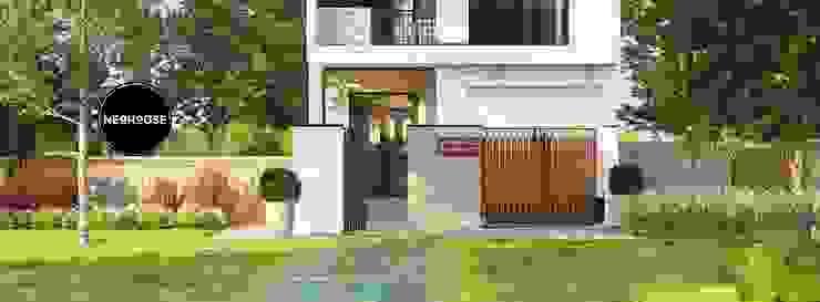 Mẫu thiết kế nhà phố đẹp hiện đại 2 tầng tại Vĩnh Long bởi NEOHouse