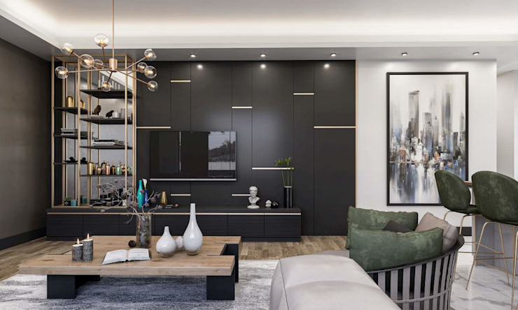 Baştan Villası Modern Multimedya Odası VERO CONCEPT MİMARLIK Modern