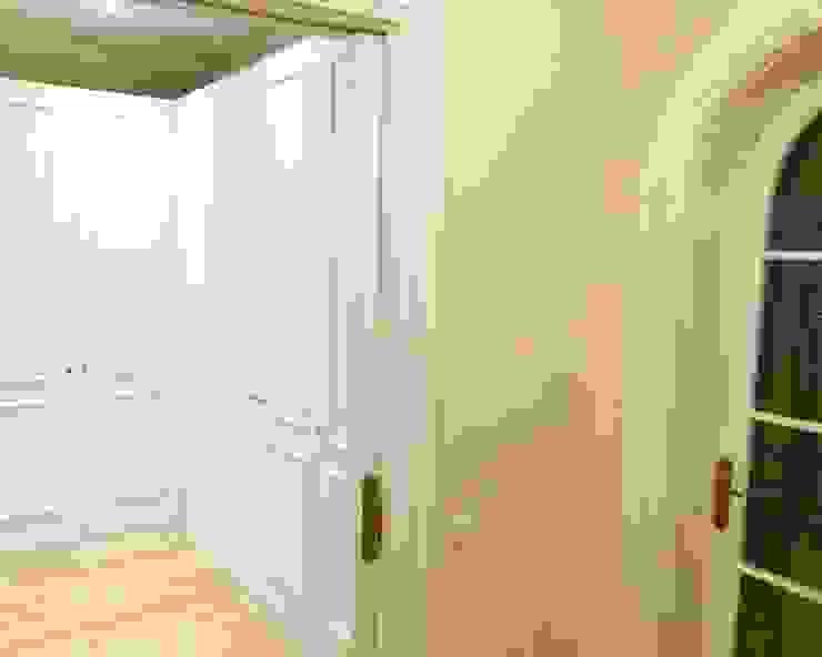 Mejora y pintado ode puertas y paredes Lala Decor HomeStaging & Reformas Integrales de pisos Pasillos, vestíbulos y escaleras de estilo clásico Blanco