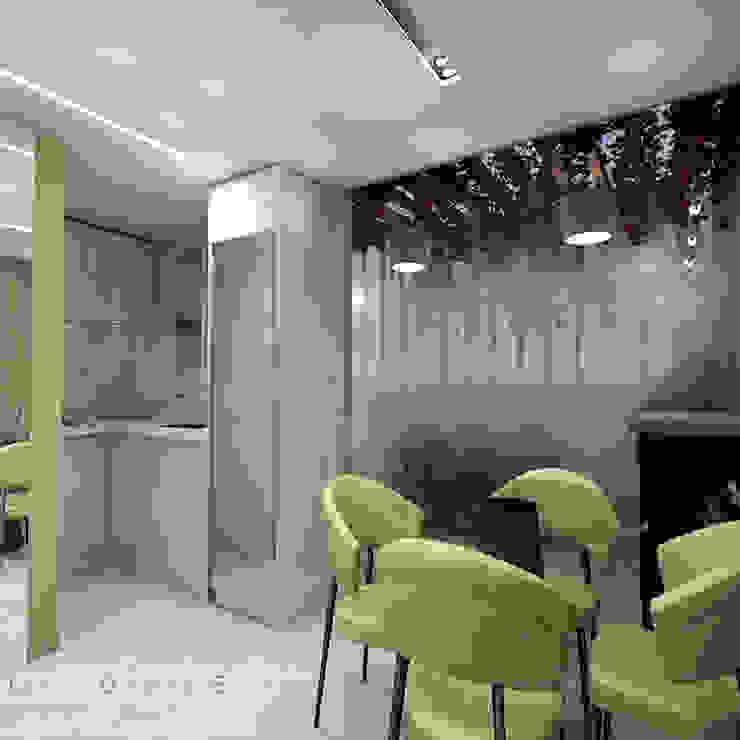 area social comedor, cocina y area de patio Livings de estilo moderno de Leiva Design Studio Moderno