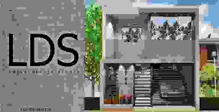 Diseño de fachada de vivienda unifamiliar. de Leiva Design Studio Moderno