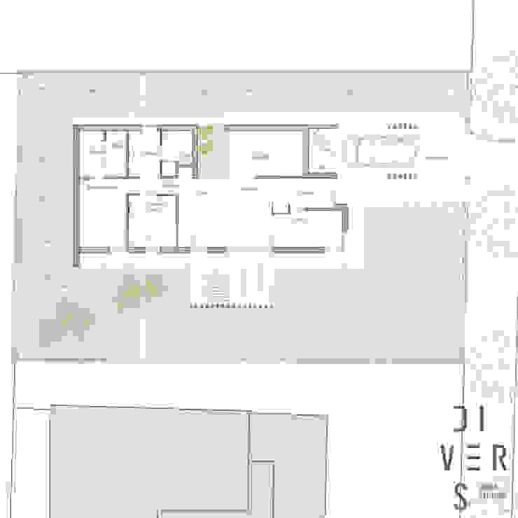 Planta de Divers Arquitectura, especialistas en Passivhaus en Sabadell Moderno Madera Acabado en madera