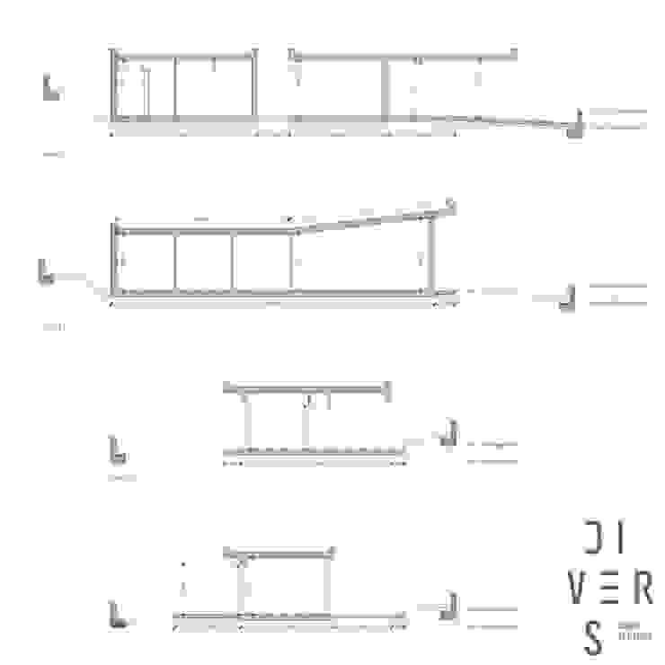 Secciones de Divers Arquitectura, especialistas en Passivhaus en Sabadell Moderno Madera Acabado en madera