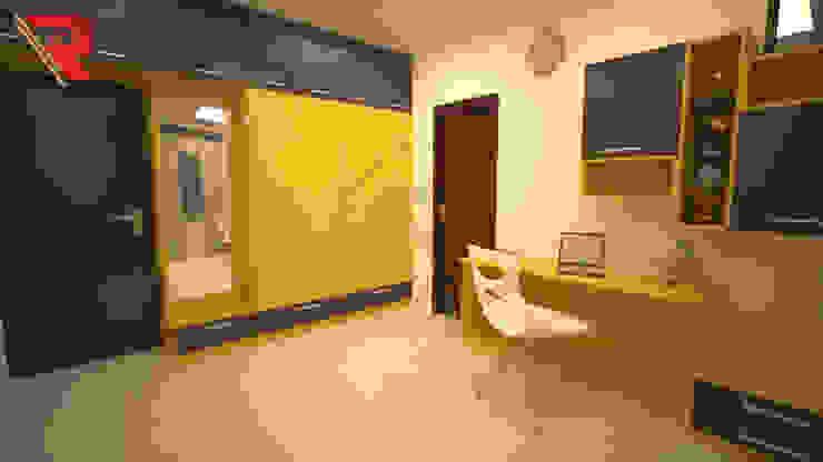 Yellow and Grey Combination Bedroom concept Renato Interio Pvt Ltd Teen bedroom Plywood Grey
