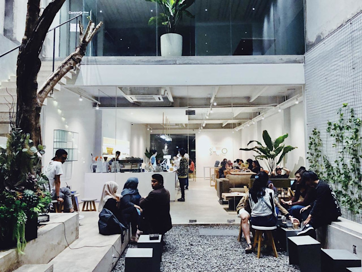 Oi Architect Gastronomía de estilo minimalista