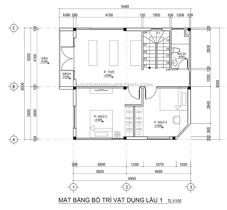 Mẫu nhà mặt tiền 8m đẹp bởi Công ty xây dựng nhà đẹp mới