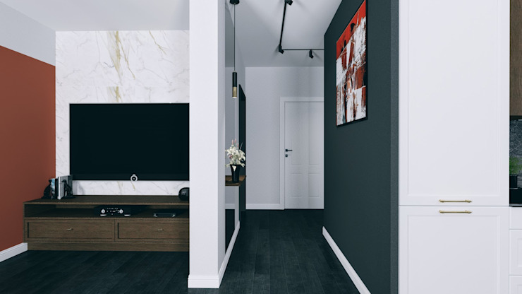 Modern Corridor, Hallway and Staircase by Biuro projektowe Patio Modern