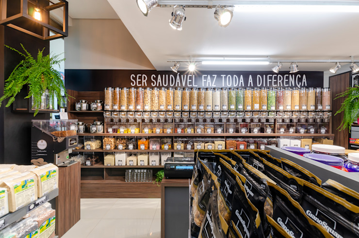 Studio C.A. Arquitetura Industrial style offices & stores