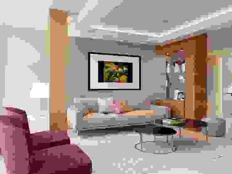 Salas modernas de Ideas3dperu Moderno
