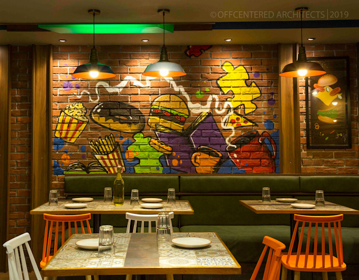 Cafe interiors in chennai Offcentered Architects Modern dining room
