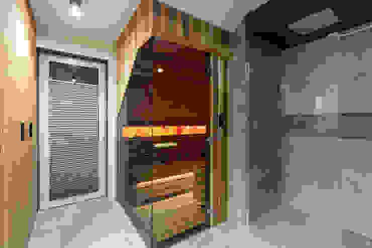 Przeszklona Sauna 3w1 (sucha + parowa + infrared) Safin Nowoczesne spa