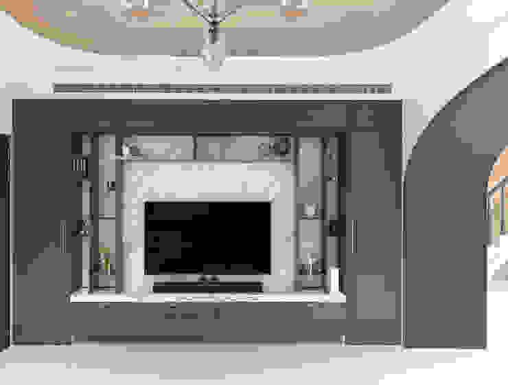 漢玥室內設計 SoggiornoSupporti TV & Pareti Attrezzate Blu
