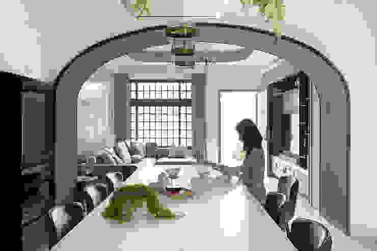 漢玥室內設計 Sala da pranzoTavoli Bianco