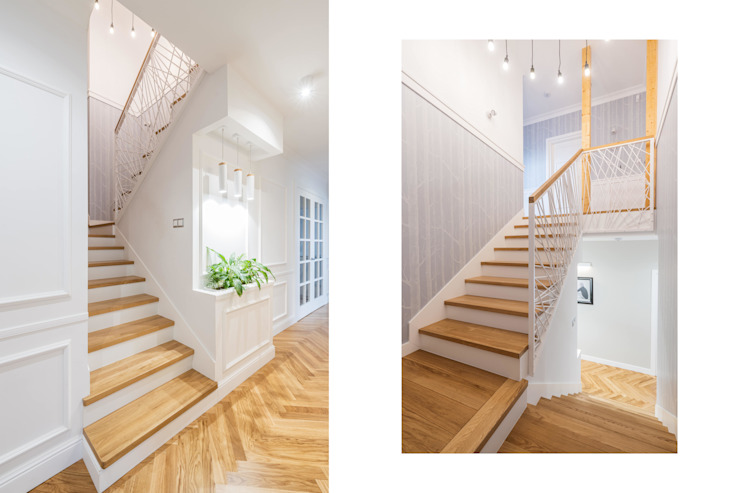 Rustic style corridor, hallway & stairs by NA NO WO ARCHITEKCI Rustic
