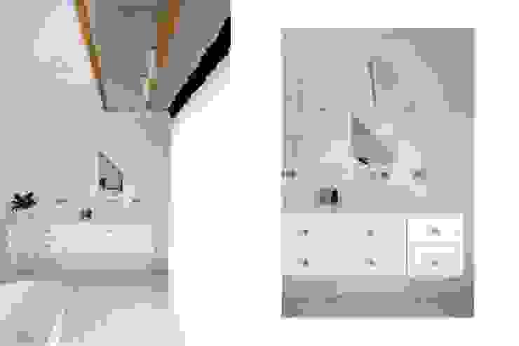Rustic style bathroom by NA NO WO ARCHITEKCI Rustic