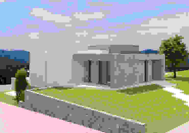 Fachada cerámica gris. de Barreres del Mundo Architects. Arquitectos e interioristas en Valencia. Minimalista Azulejos