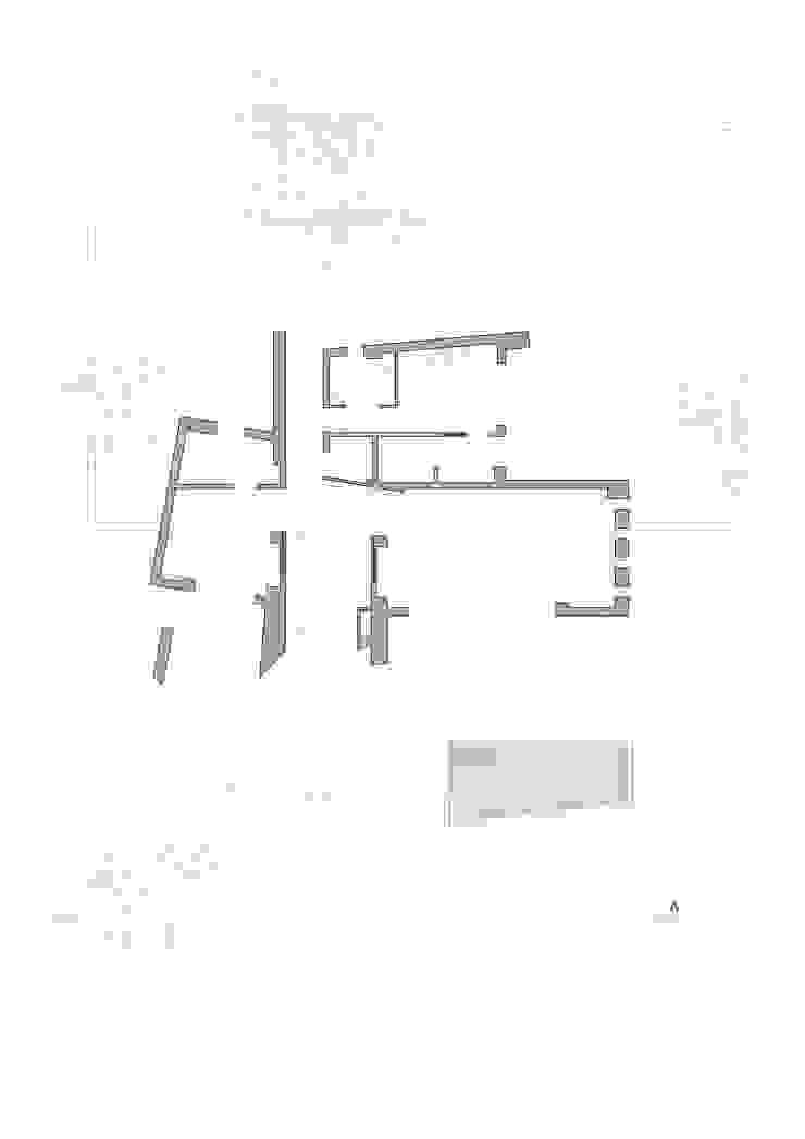 Planta primera vivienda unifamiliar. Salones minimalistas de Barreres del Mundo Architects. Arquitectos e interioristas en Valencia. Minimalista