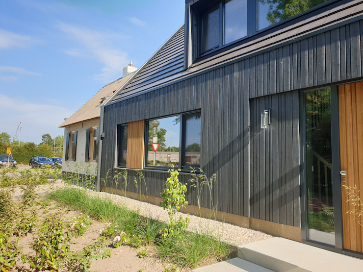 Moderne nieuwbouw woning Moderne muren & vloeren van Hoogsteder architecten Modern Hout Hout