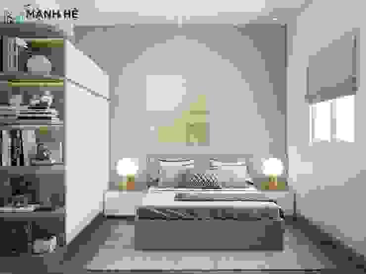 Không gian phòng ngủ master bởi Công ty TNHH Nội Thất Mạnh Hệ Hiện đại Bê tông cốt thép