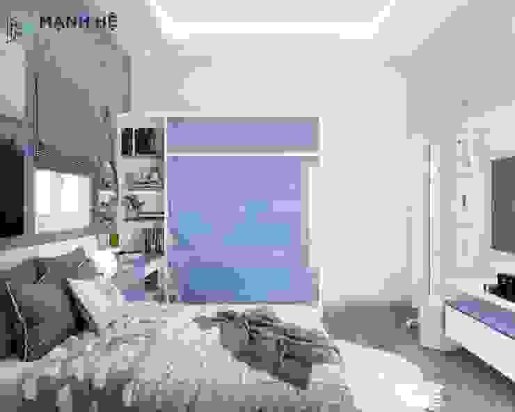 Căn phòng gọn gàng và đầy đủ các vật dụng Phòng ngủ phong cách hiện đại bởi Công ty TNHH Nội Thất Mạnh Hệ Hiện đại