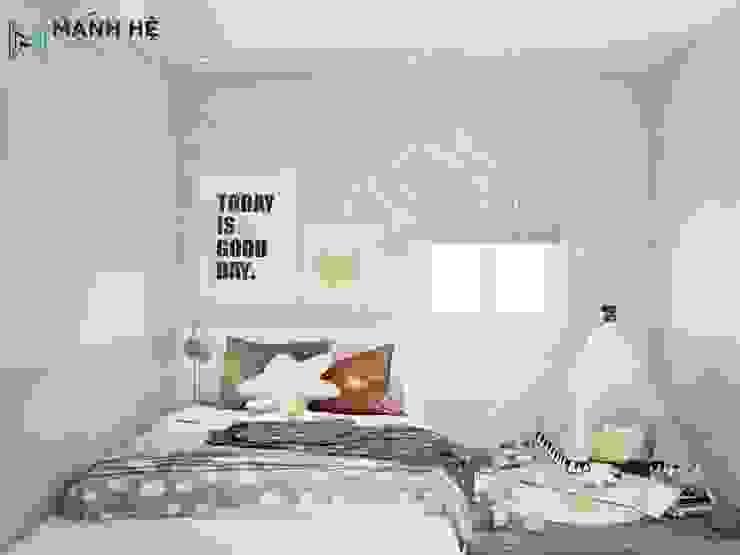 Giường ngủ dạng bục tiết kiệm diện tích bởi Công ty TNHH Nội Thất Mạnh Hệ Hiện đại Bê tông cốt thép