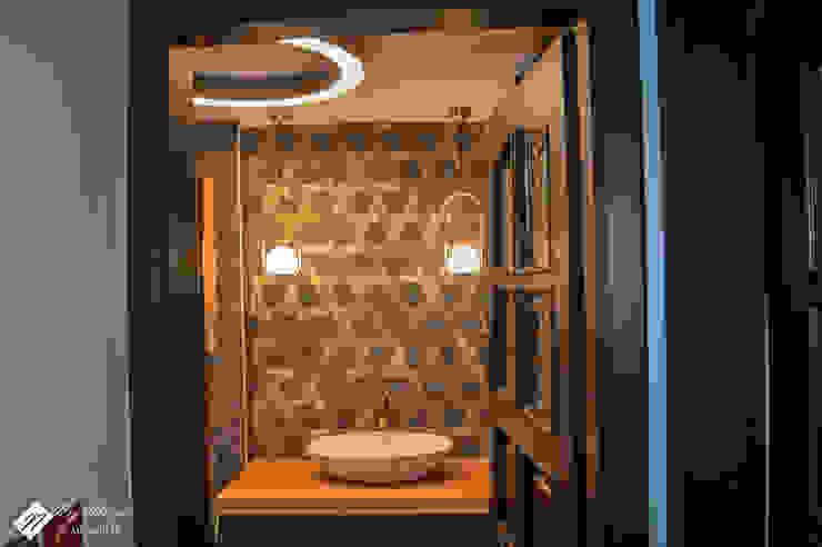 Banyo Dekor Duvarı Modern Banyo NEG ATÖLYE İÇ MİMARLIK Modern Ahşap Ahşap rengi