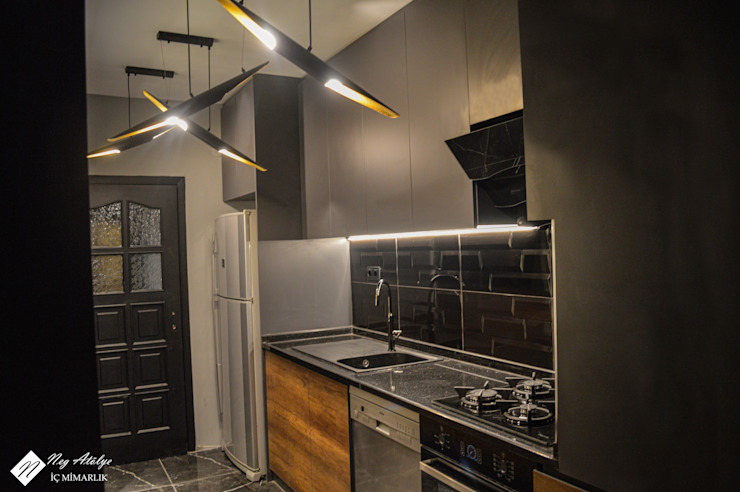 NEG ATÖLYE İÇ MİMARLIK – Modern Mutfak: modern tarz , Modern Granit