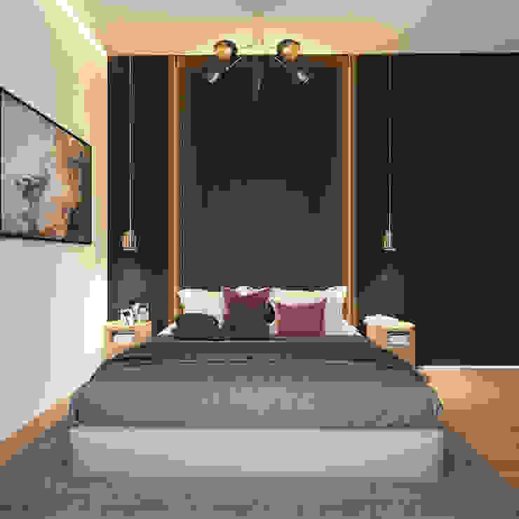 ArchSia – yatak odası tasarımı: modern tarz , Modern Ahşap Ahşap rengi