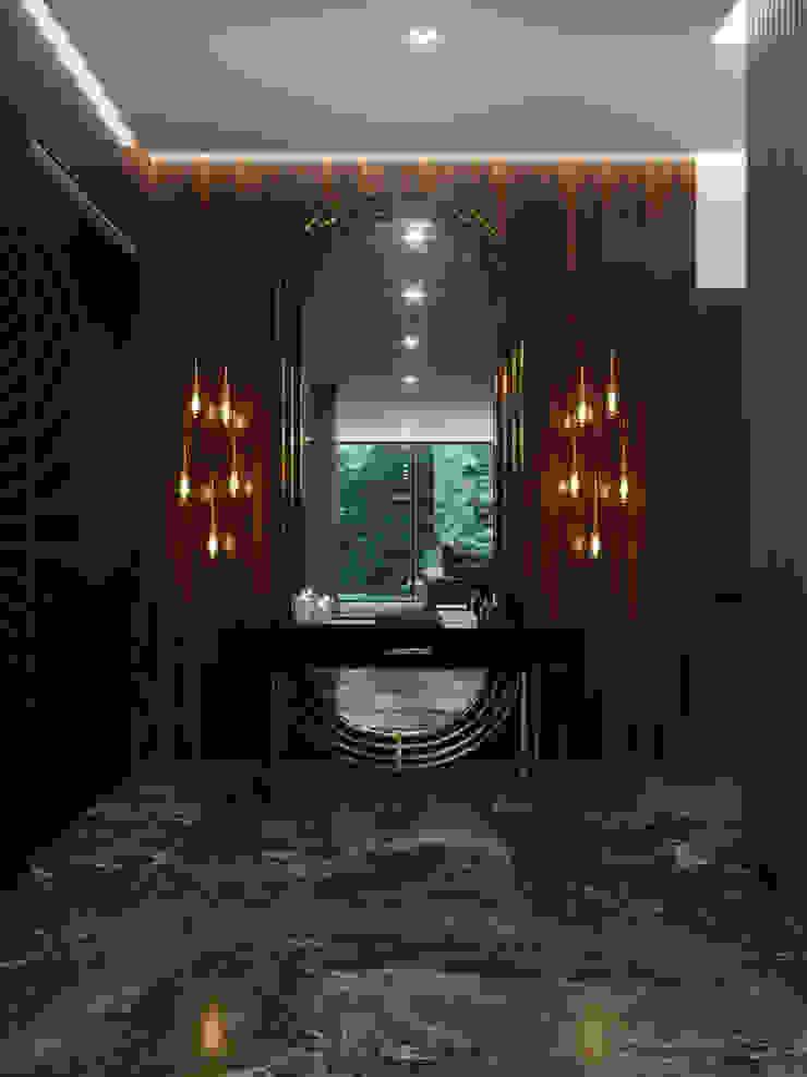 VITTAGROUP Modern corridor, hallway & stairs
