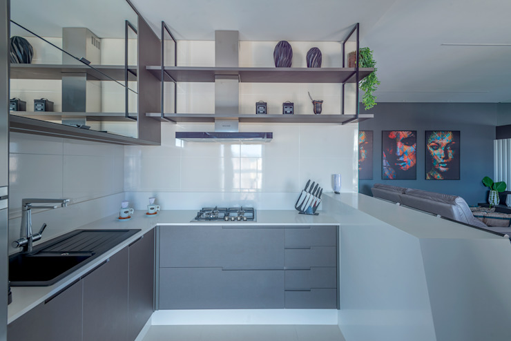 Studio Diego Duracenski Interiores Modern kitchen