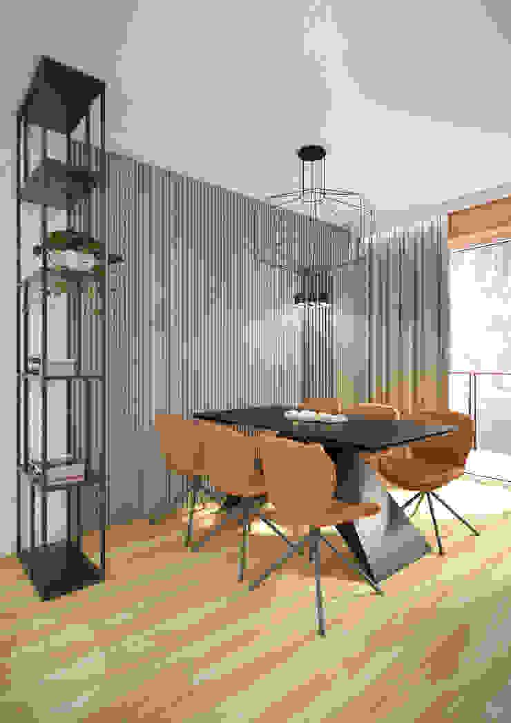 Nevi Studio Sala da pranzo moderna Arancio