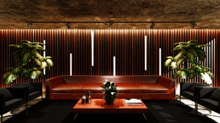 Paulo Rodrigues Decoração & Design Rustic style study/office Engineered Wood Wood effect