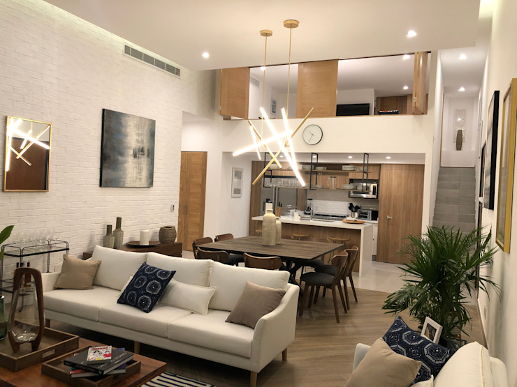 Living Room at night Modern Living Room by DE LEON PRO Modern