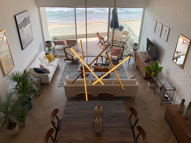 View from extra bedroom Modern Dining Room by DE LEON PRO Modern