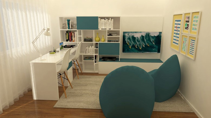 Modern Study Room and Home Office by Casactiva Interiores Modern