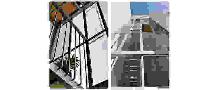 Puzzle Frank Maguiña Arquitectos Puertas y ventanas minimalistas