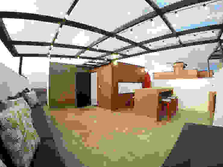 Sala estar Salas de estilo rústico de TikTAK ARQUITECTOS Rústico Concreto