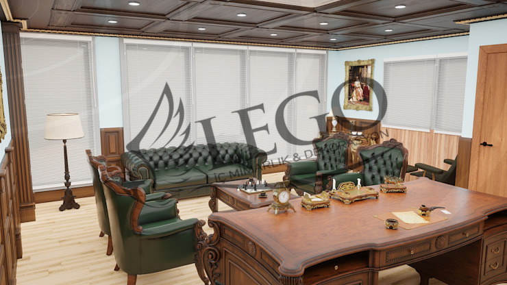 Nish İstanbul Makam Ofisi Lego İç Mimarlık & İnşaat Dekorasyon Klasik Masif Ahşap Rengarenk