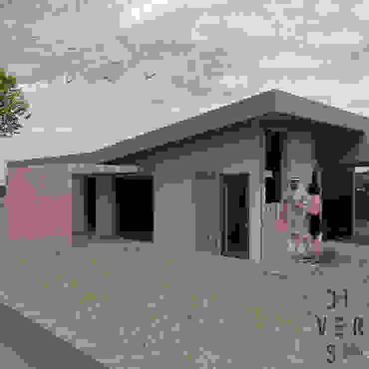 Vista sur de Divers Arquitectura, especialistas en Passivhaus en Sabadell Moderno Madera Acabado en madera