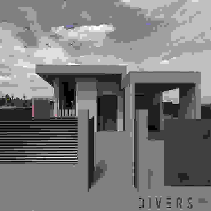 Entrada de Divers Arquitectura, especialistas en Passivhaus en Sabadell Moderno Madera Acabado en madera