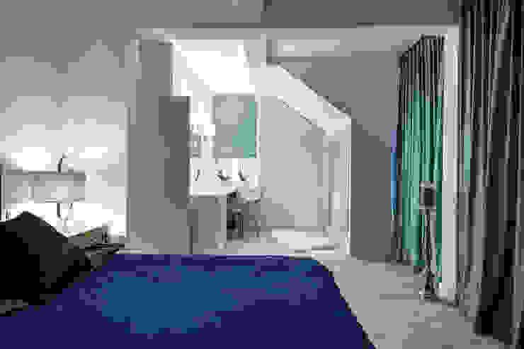 przytualna sypialnai Nowoczesna sypialnia od livinghome wnętrza Katarzyna Sybilska Nowoczesny